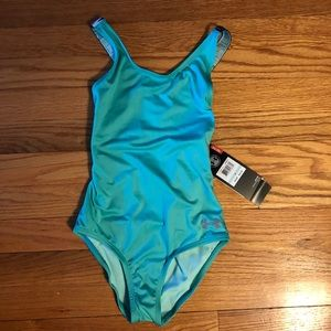 NWT Girls Under Armour swimsuit Youth 8